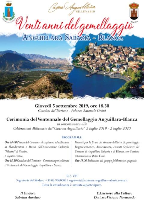 Anguillara Sabazia - Blanca: Vent'anni del gemellaggio
